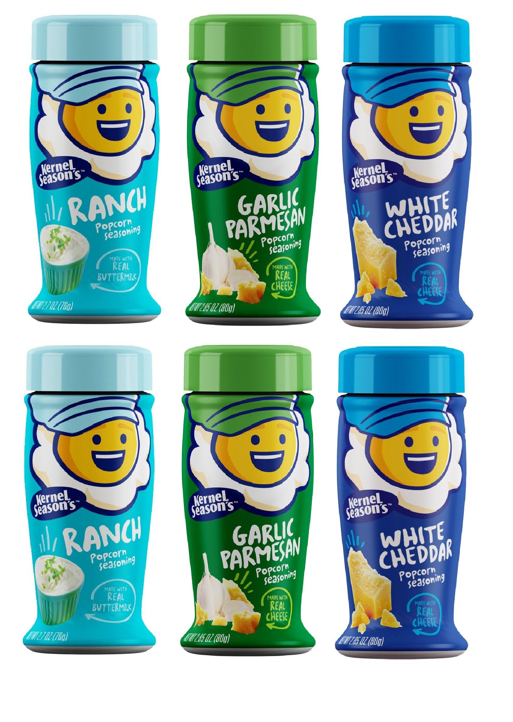 Kernel Season's Popcorn Seasoning Variety Pack of 6 Ranch Parmesan & Garlic and White Cheddar by Kernel Season's (Image #1)