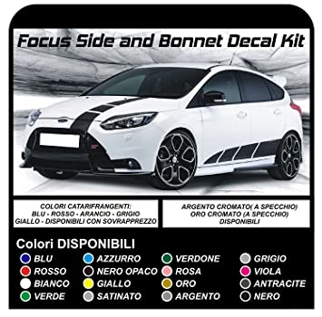 Stickers for focus st mk3 focus turbo rs 1 6 1 8 2 0 graphic strips complete kit