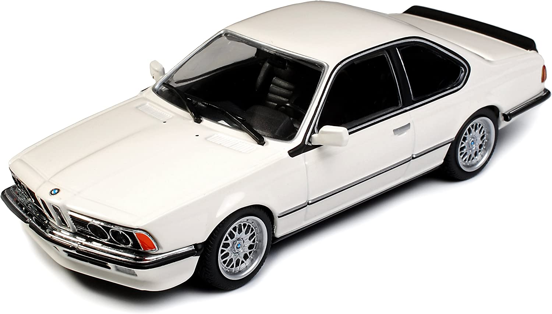 B-M-W 6er 635 CSI E24 Coupe Weiss 1975-1989 1//43 Minichamps Maxichamps Modell Auto mit individiuellem Wunschkennzeichen