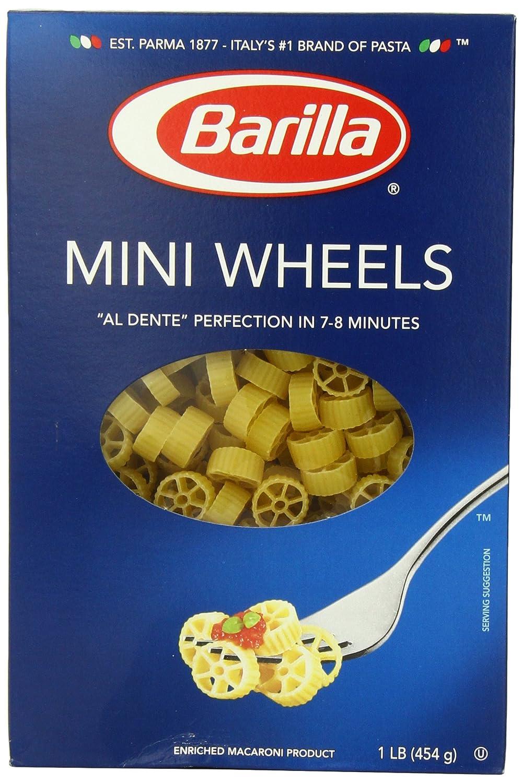 com barilla mini wheels pasta ounce boxes pack of  com barilla mini wheels pasta 16 ounce boxes pack of 4 italian pasta grocery gourmet food