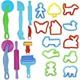 Kare & Kind® Set of 20pcs Smart Dough Tools Kit with Models and Molds (Retail Packaging) (Trees and Animals)