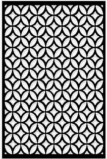 acurio lattice moors ellipses outdoor decor panel screen black 48 x 32 x 1 - Decorative Metal Screen
