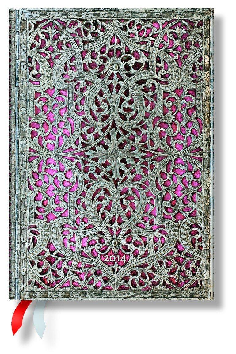 Blush Pink - Paperblanks 2014 Weekly Planner (Midi 5 x 7 Horizontal)