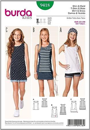 Burda Schnittmuster Shirt, Kleid 9418: Amazon.de: Küche & Haushalt