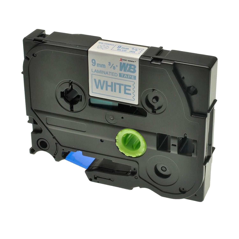 Weiss auf Rot Logic-Seek 4 Schriftb/änder kompatibel f/ür Brother TZE-425 9mm//8m