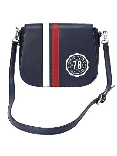 9a158af1d6ad3 collezione alessandro Damen Umhängetasche im modischen College-Stripes-Look