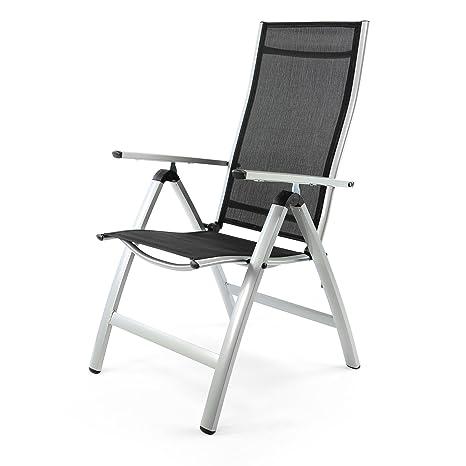 Amazon Sedie Da Giardino In Alluminio.Nexos Sedie Da Giardino Esterno In Alluminio Con Bracciolo 7 Posizioni