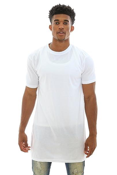 PJ Mark Men s Basic Short Sleeve Elongated T Shirt-White-M  c5fd92e47