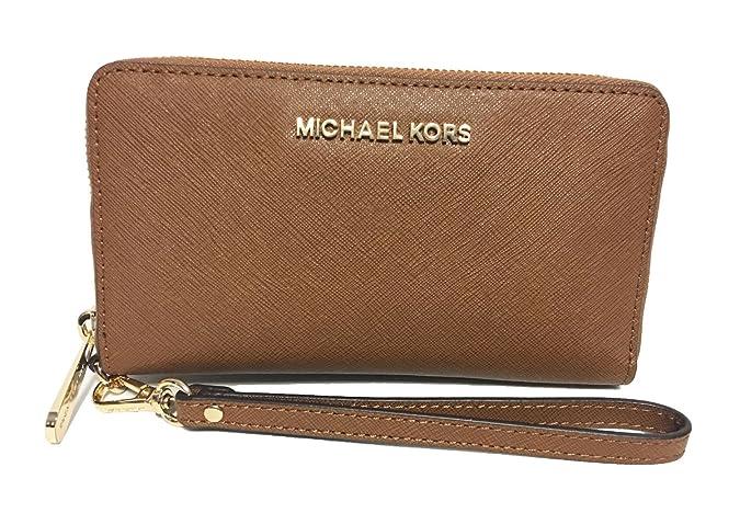2e67501a47b0be Michael Kors Jet Set Travel Multifunction Phone Case in Cherry Red:  Handbags: Amazon.com