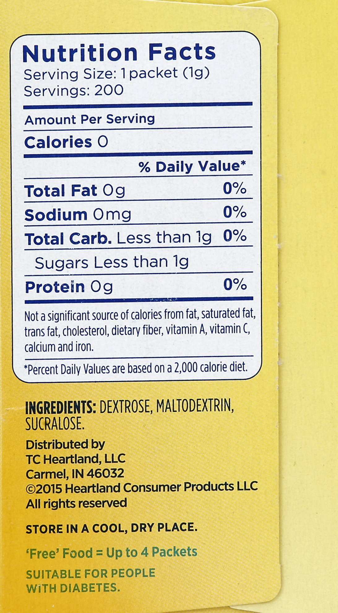 Splenda--No Calorie Sweetener--200 Count Packets, 14.1 Ounce--Sugar Substitute for Use with Coffee, Tea, Fruit, Cereal, and More by Splenda (Image #5)
