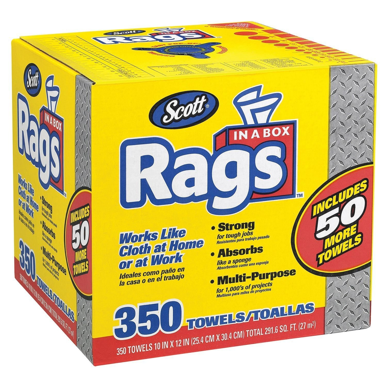 amazoncom scott rags in a box 350 count health personal care - Box Of Rags