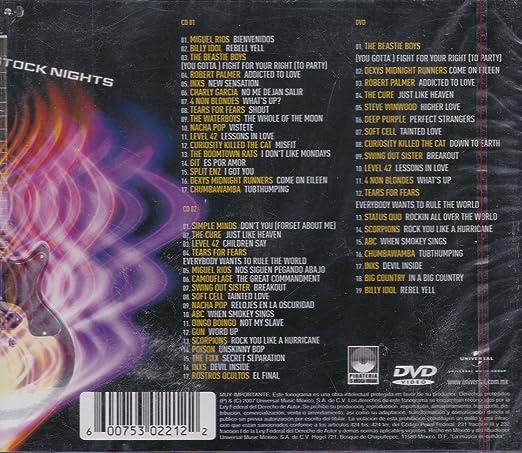 Billy Idol, The Beastie Boys, Roberto Palmer, Inxs, Charly Garcia, Split Enz, Git, The Boomtown Rats Miguel Rios - Rock Stock Ngihts: Varios 2 Cds +Dvd ...