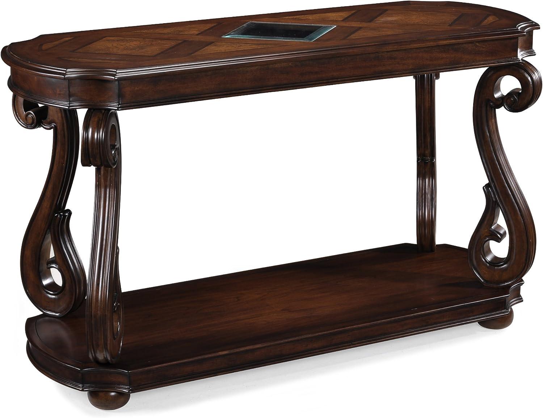 Magnussen Harcourt Cherry Finish Wood Rectangular Sofa Table: Furniture & Decor