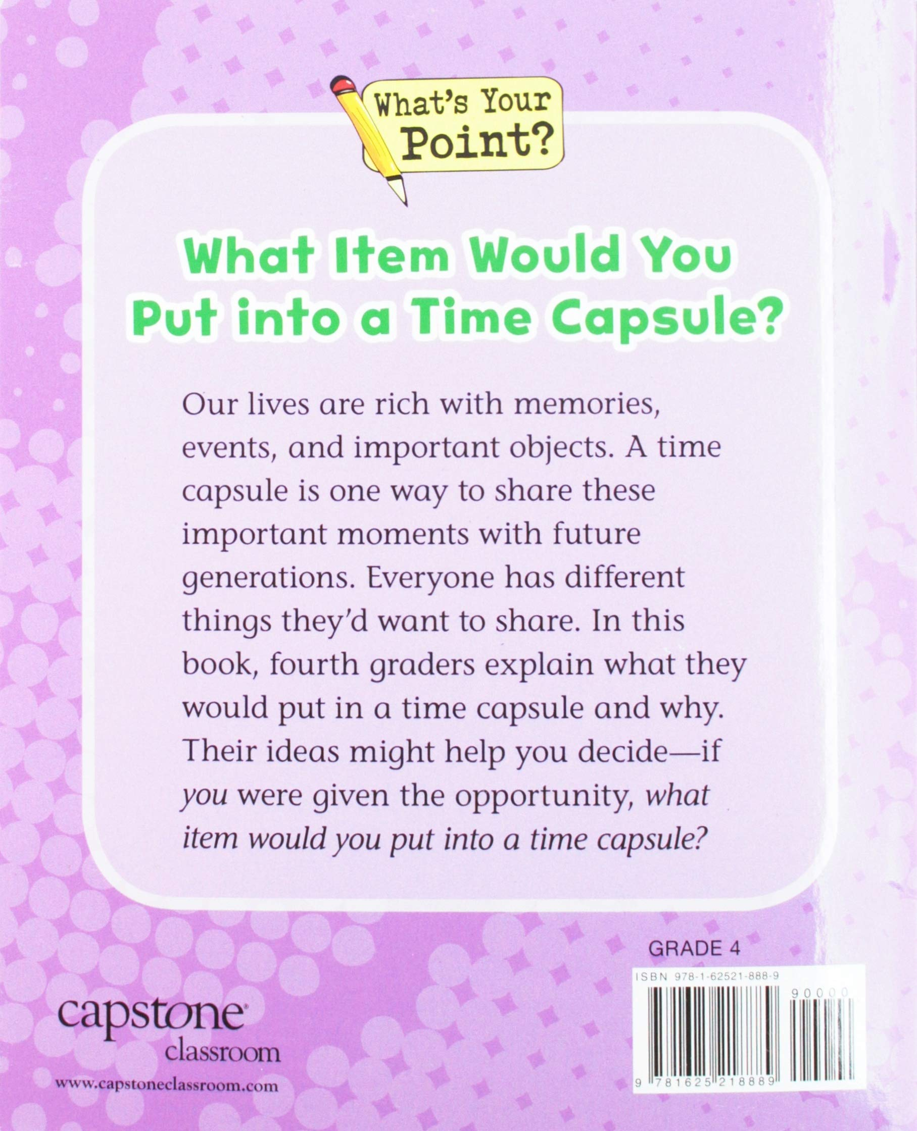 time capsule activity for fourth grade