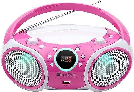 CD Player Boombox, Portable w/ Bluetooth, USB, AM/FM Radio