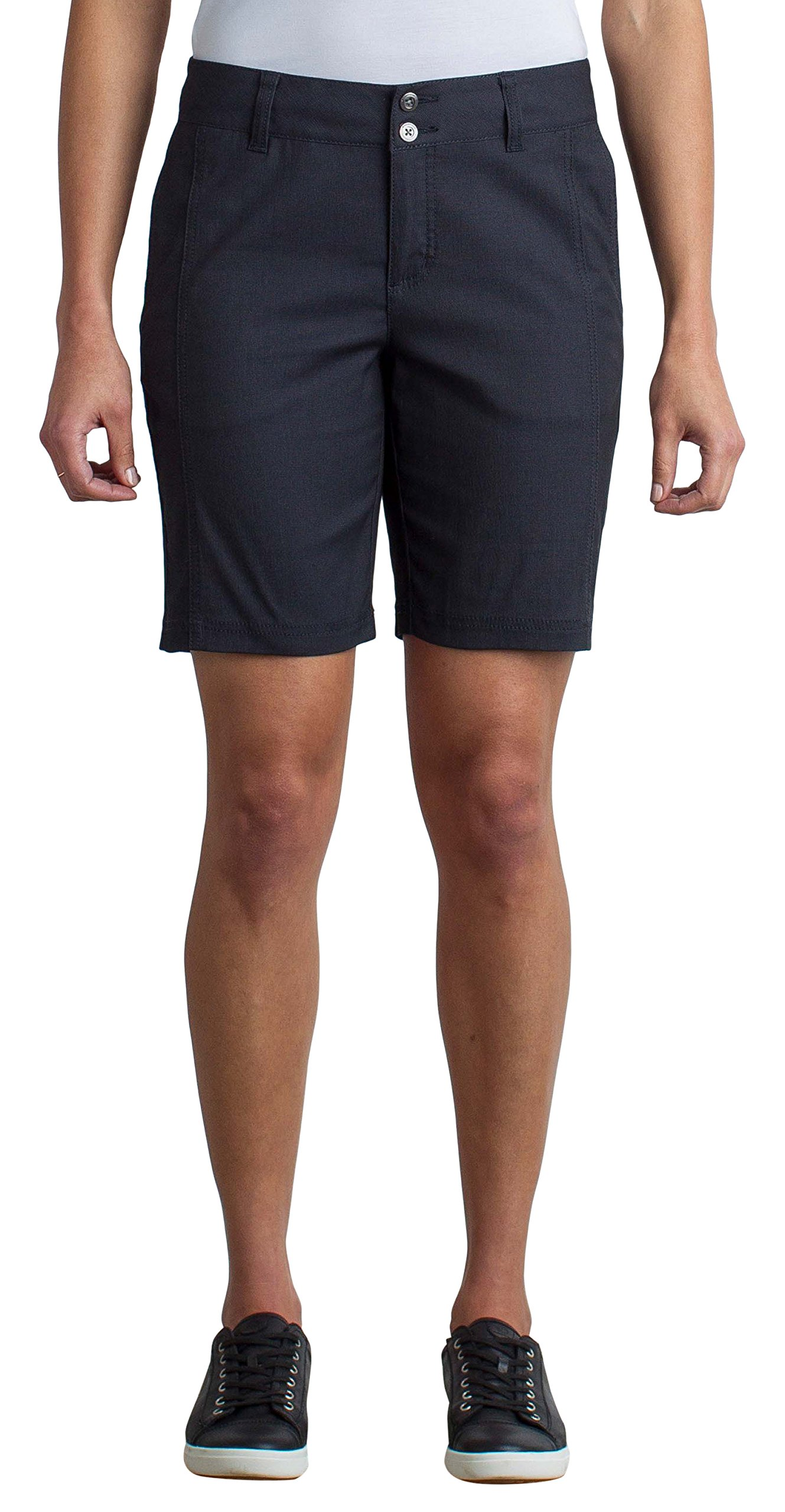 ExOfficio Women's Costera Lightweight Bermuda Shorts, Carbon, Size 8 by ExOfficio