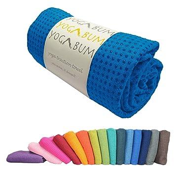 Yogabum antideslizante Yoga Mat Prima Toalla (Royal Blue): Amazon.es: Deportes y aire libre