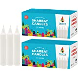 Israel Candle Classic White Candles-72 Bulk 2 Pack (Total of 144 Candles) - Traditional Shabbat, Dinner, Ceremonies, and Emer