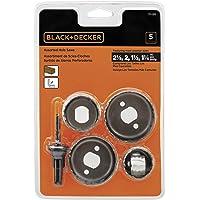 Black & Decker 71/120 Delik Testere Çeşitleri,Metalik, 5 Parçalı