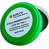 PODURO Streichriemenpaste Grip « Chromoxid Abziehpaste für Abziehleder und Streichriemen Zum Messer schärfen