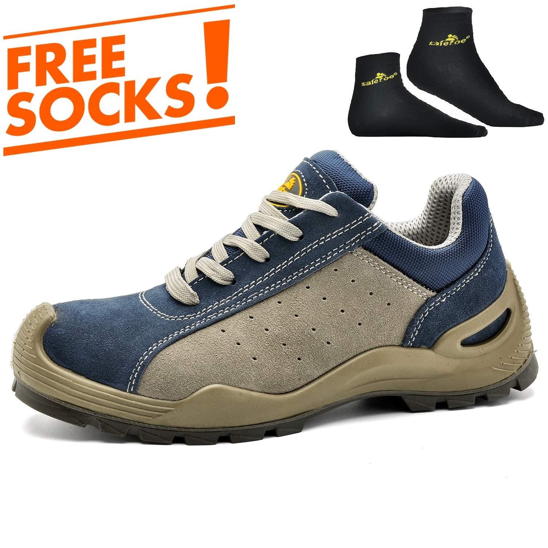 SAFETOE Chaussure de Travail Basket Homme L7295 Chaussure de sécurité Femme Bottes Bleu Travail légére SF7295