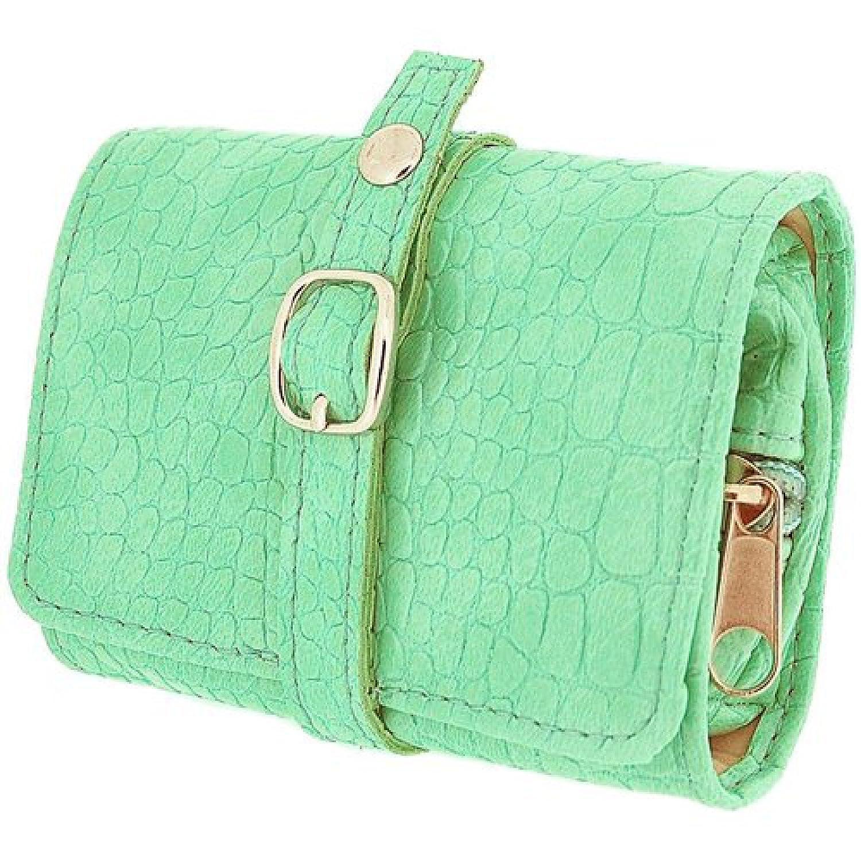 Mele & Co - Borsetta portagioielli da viaggio, da donna, colore: Verde menta Direct Diamond Centre