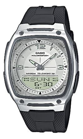 CASIO Collection AW-81-7AVES - Reloj de Caballero de Cuarzo, Correa de Resina Color Negro (con cronómetro, Alarma, luz)