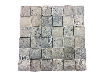 Mosaikfliese aus Naturstein für Küche • Wohnzimmer • Bad | 3D ...