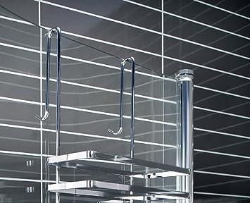 Estantería colgante de 3 niveles, para mampara de ducha, montaje ...