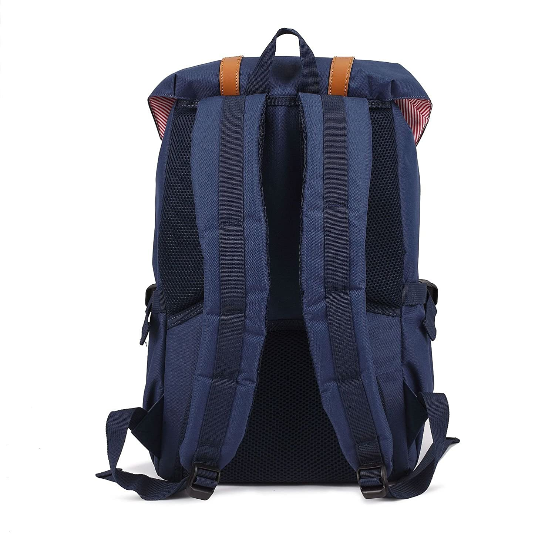 Mochila vintage con espacio para el ordenador portátil hasta 15 aduanas, como mochila de cada día, para la universidad, en aspecto retro, por deporte o ...
