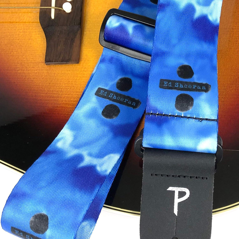Perris Ed Sheeran Package with 2 Ed Sheeran Polyester Guitar Strap and 6 Ed Sheeran Guitar Picks