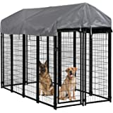 Dog Pen Dog Playpen House Heavy Duty Outdoor Metal Galvanized Welded Pet Crate Kennel Cage with UV Protection Waterproof…