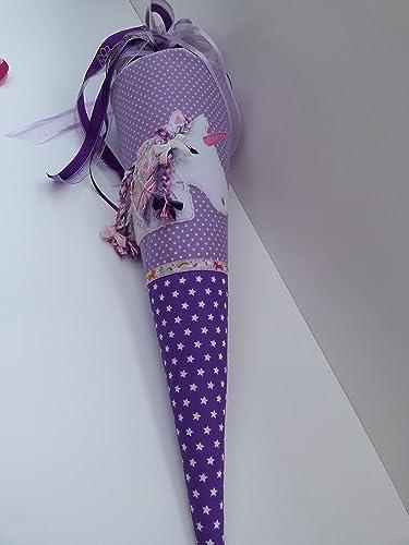 Motiv z.B Einhorn Schultüte aus Stoff mit Name personalisiert