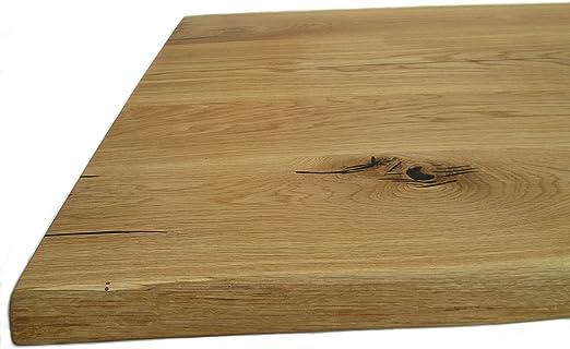 123_Massivholzplatten Tablero de Roble Macizo de Roble Salvaje con ...