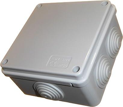 1 caja de conexiones eléctrica cuadrada de 100 mm con ojales de ...
