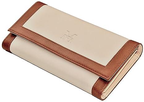 80c26b951f14b Mimis Damen Portemonnaie mit RFID-Schutz Beige Braun  Amazon.de ...