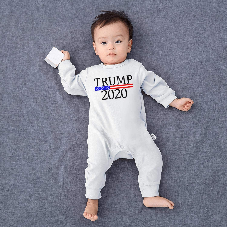 smsdpmc Trump 2020 Bodysuit Blue Newborn Infant Baby Girls Boys Long Sleeve Footed Sleep Romper Overalls