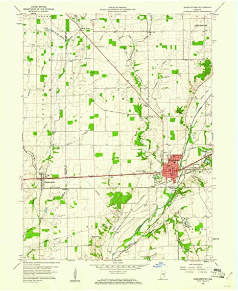 Knightstown Indiana Map.Amazon Com Yellowmaps Knightstown In Topo Map 1 24000 Scale 7 5