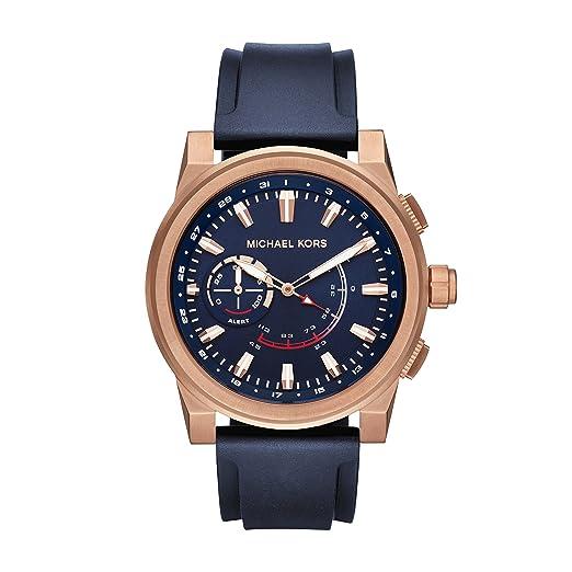 be6513926a205 Michael Kors Reloj Analogico para Hombre de Cuarzo con Correa en Silicona  MKT4012  Amazon.es  Relojes