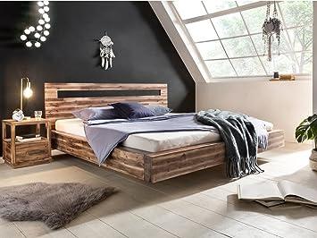 Woodkings Holz Bett 180x200 Marton Doppelbett Akazie Rustic ...