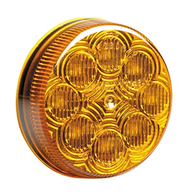 "Maxxima M16280Y Amber 2-1/2"" Round LED Clearance Marker Light: Automotive"