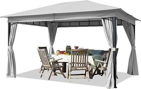 Cenador de jardín 3x4m Aprox. 180g/m² Lona de Techo ...