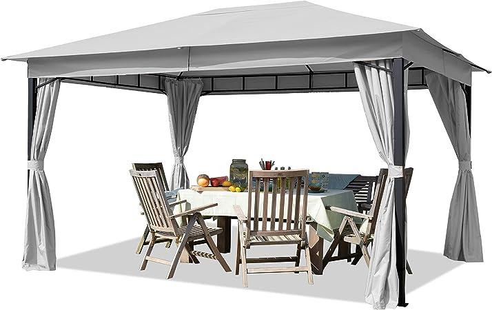 Cenador de jardín 3x4m Aprox. 180g/m² Lona de Techo pabellón ...