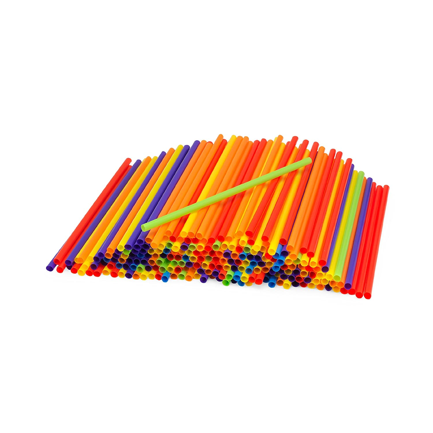 Kizmos Jumbo Flex Straws, Assorted, 125 Count 5066031