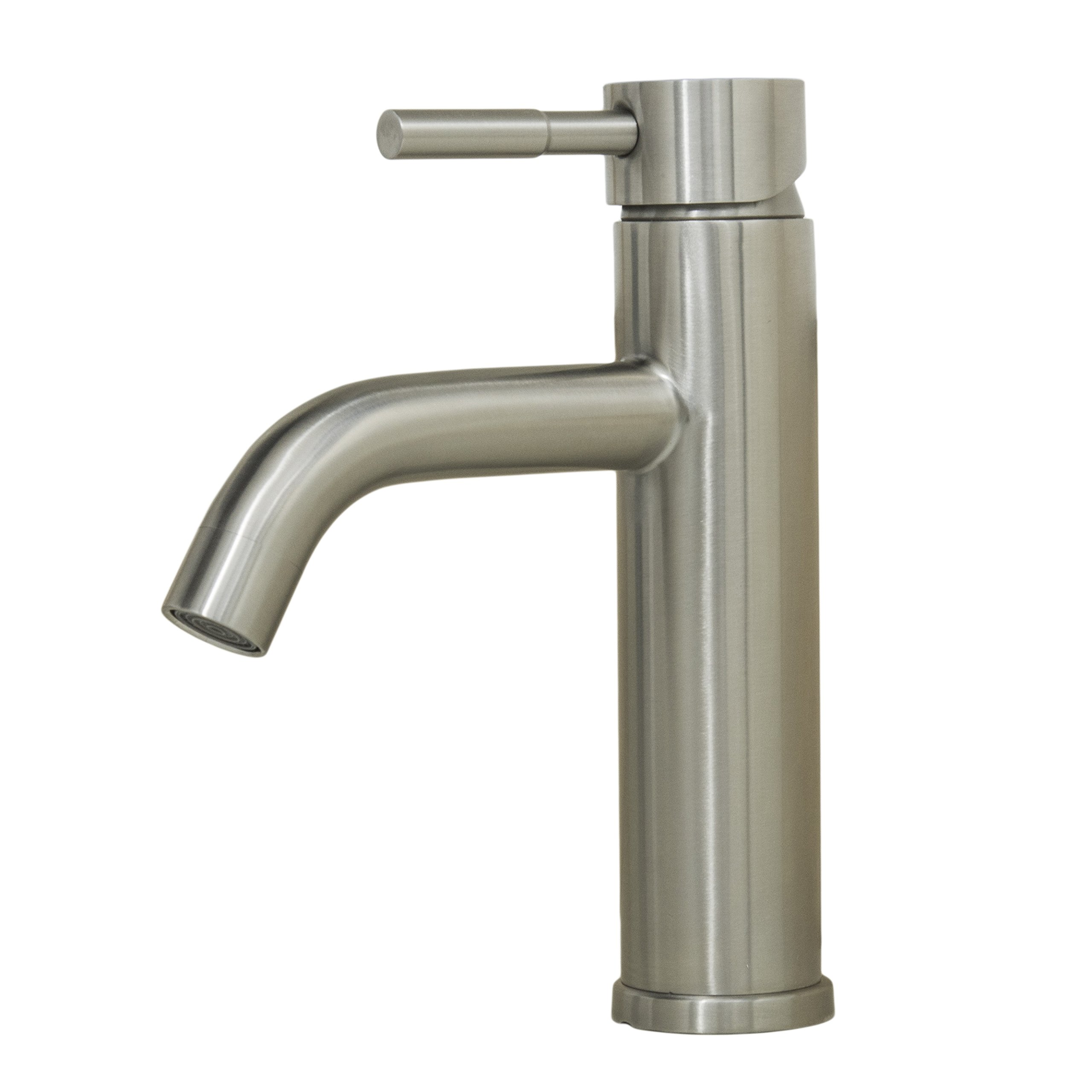 Wells Sinkware 308002 Alonza Renaissance Collection Single-Handle Lavatory Faucet, 8'', Stainless Steel