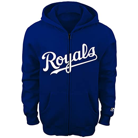 36f40eee3fb Kansas City Royals Kids Blue Word Mark Full Zip Fleece Hoodie (Small 4)
