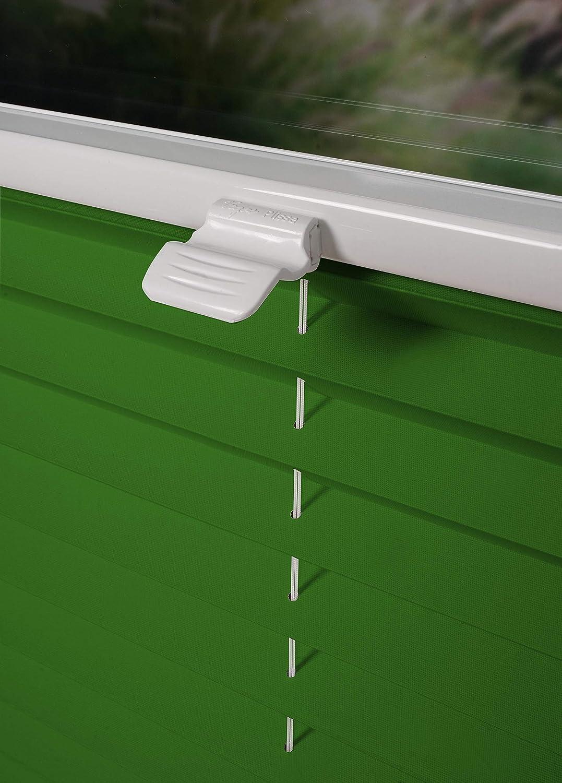 Tenda plissettata su misura, disponibile in diversi colori, per montaggio su finestra, oscurante, protezione solare, qualit/à professionale, nero, B : 30-40 cm, H 40-100 cm