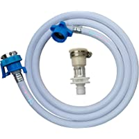 Neerjharini 3 Meter Washing Machine Inlet Hose Pipe with 2 Type Tap Adapter for Front/Top Load Fully Automatic Compatible with All Types of Taps (White)