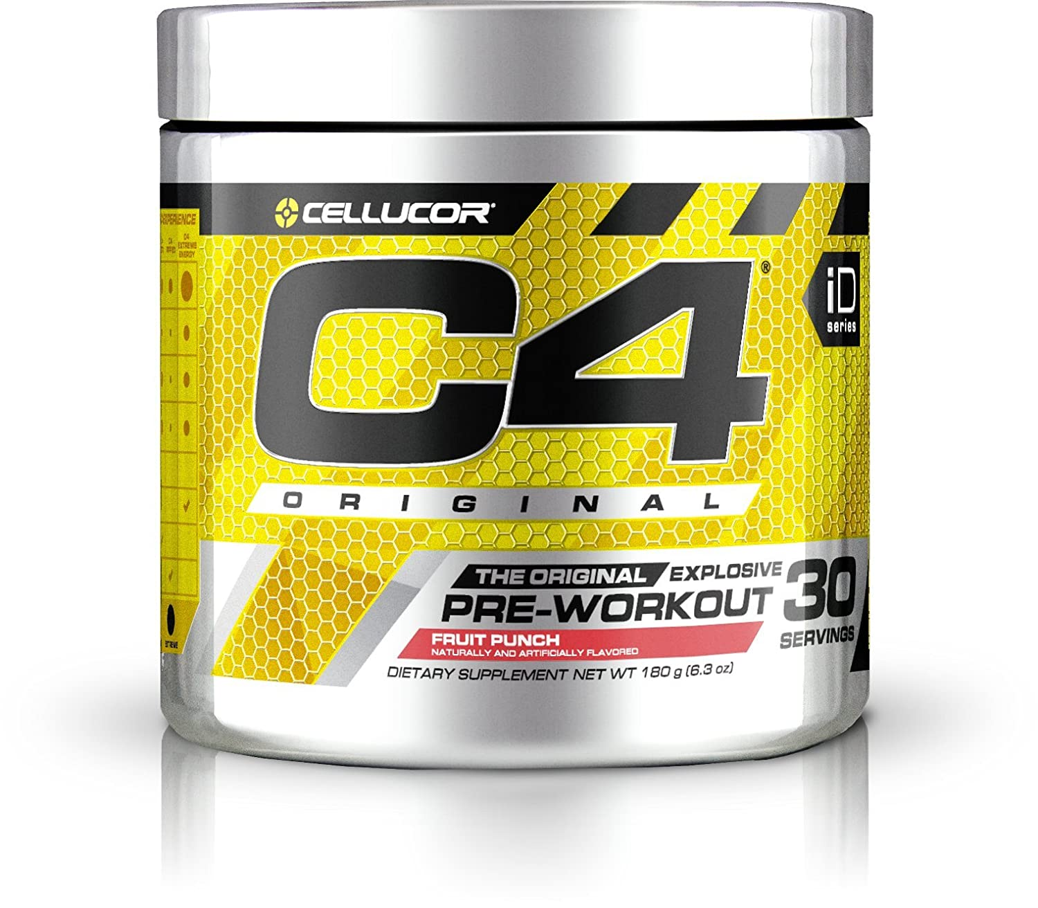 Cellucor C4 Original Explosive Pre-Workout Supplement, Fruit Punch, 6.3 Ounce