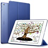 ESR iPad 9.7 2018/2017 Case, Lightweight Smart Case Trifold Stand with Auto Sleep/Wake Function, Microfiber Lining, Hard Back Cover for the Apple iPad 9.7 iPad 5th/6th Generation,Navy Blue